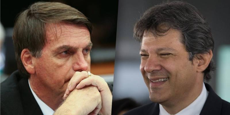 Pesquisa eleitoral: Bolsonaro tem 57% e Hadad 43% dos votos válidos
