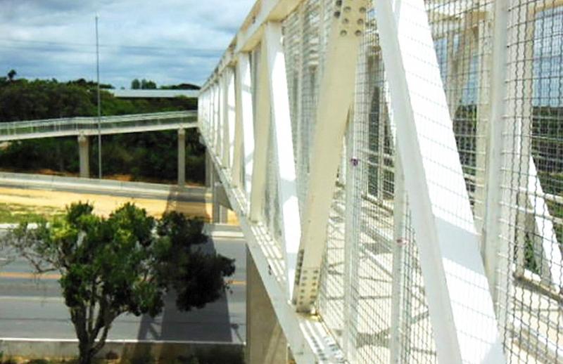 Entrevias inicia nesta segunda implantação de três passarelas de pedestres