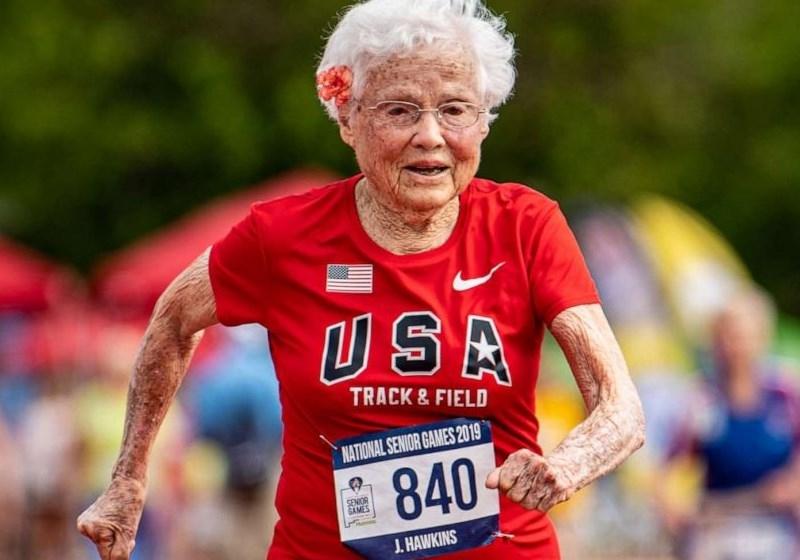 Aos 103 anos corredora é campeã nos 100 metros rasos
