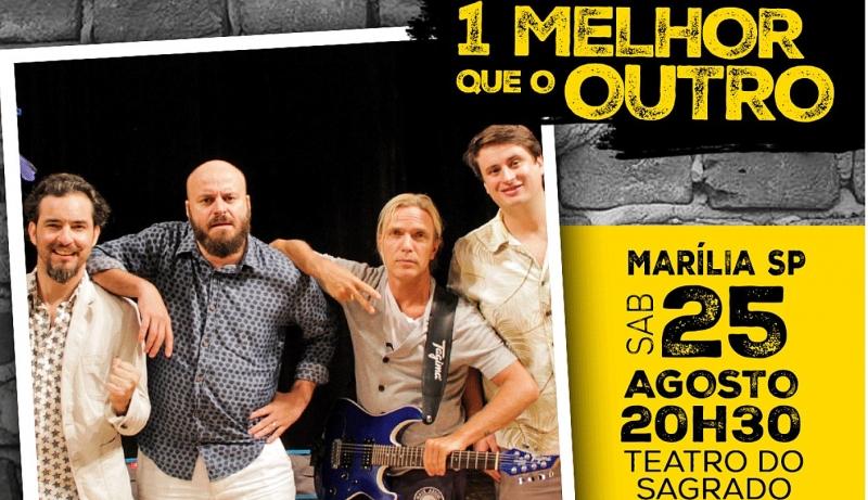 """Espetáculo """"1 Melhor Que o Outro"""" (1MQO) é atração em Marília"""