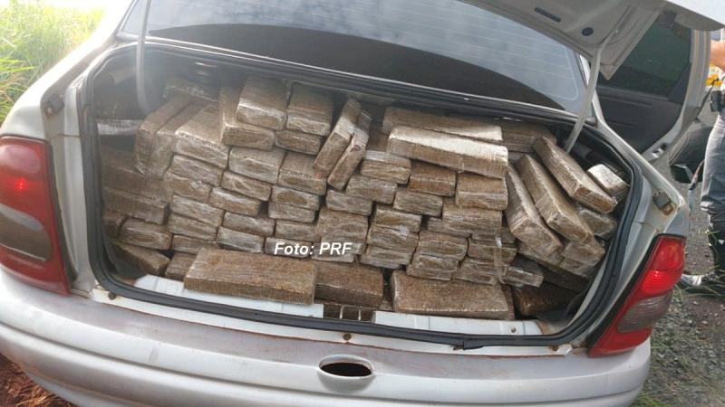 Operação da PRF apreende mais de 360 kg de maconha na região