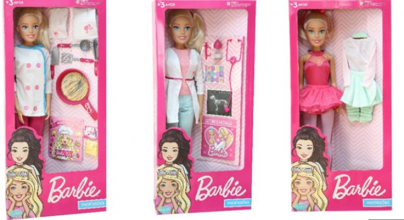 Boneca Barbie ganha novo tamanho inspirada em novas profissões