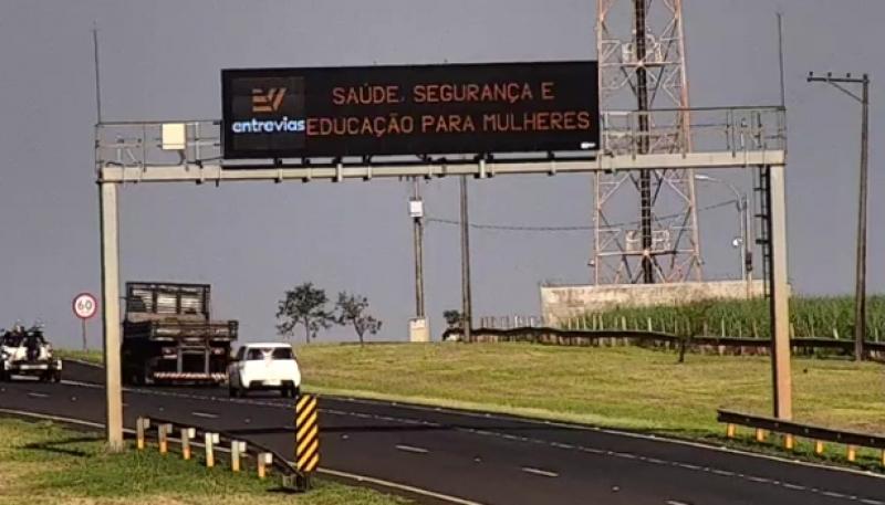 Entrevias divulga ações do SOS Mulher a usuários de rodovia