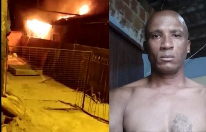 Casa onde morava suspeito de matar menina com 13 facadas pega fogo em Chavantes