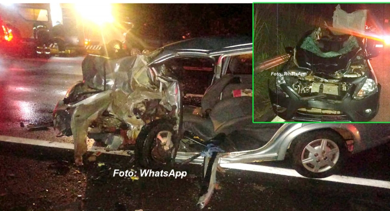 Acidentes em rodovias da região matam duas pessoas e ferem sete