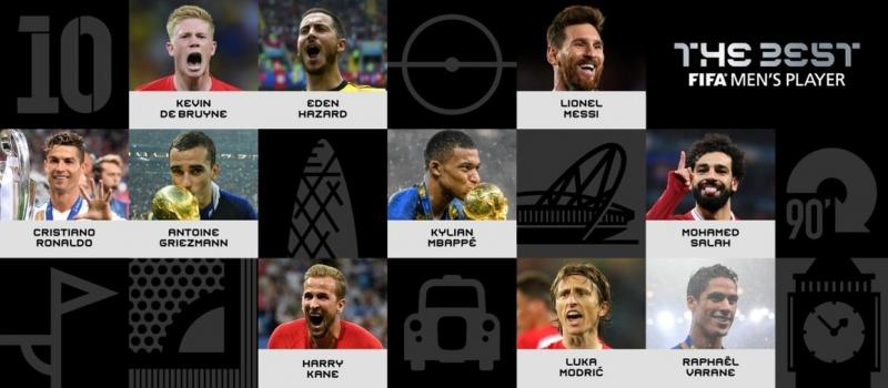 Fifa divulga os 10 candidatos ao prêmio de melhor do mundo
