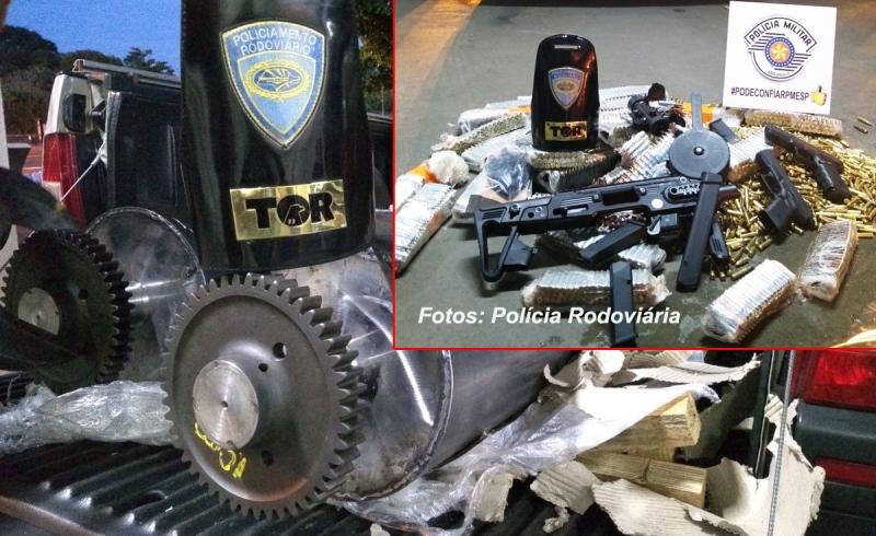 Polícia Rodoviária apreende arsenal, com armas e munições