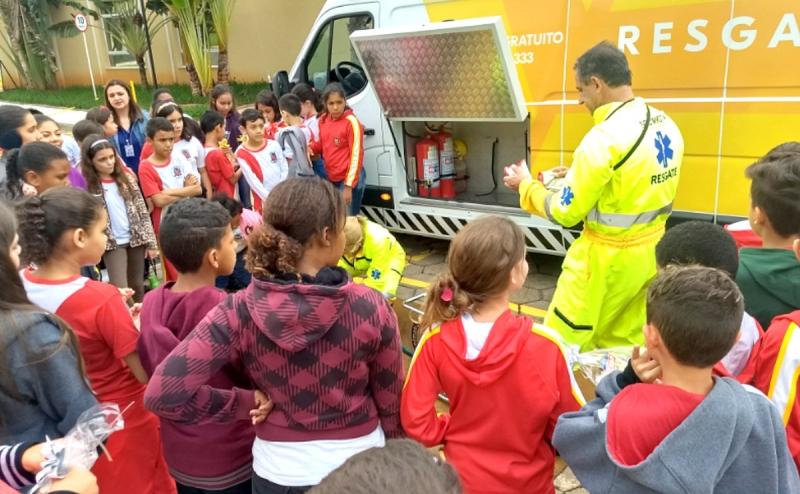 """""""Pit Stop para o Futuro"""" estimula crianças de Marília sobre conscientização e cidadania no trânsito"""