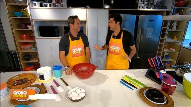 Internautas criticam quadro culinário do Globo Esporte com Caio Ribeiro
