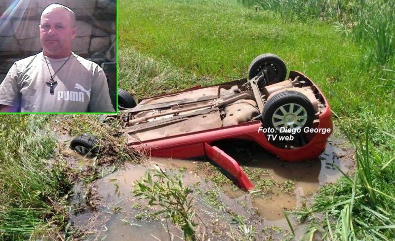 Morre motorista de carro que caiu e ficou submerso em lagoa na região