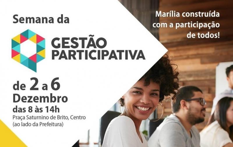 Prefeitura de Marília quer ouvir o cidadão e vai realizar Semana de Gestão Participativa