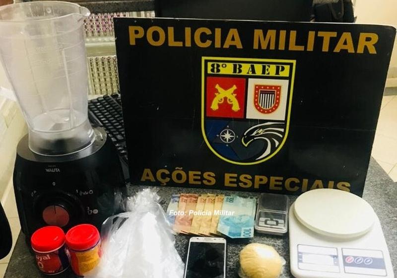 """PM prende na região homem que vendia droga """"batizada"""""""
