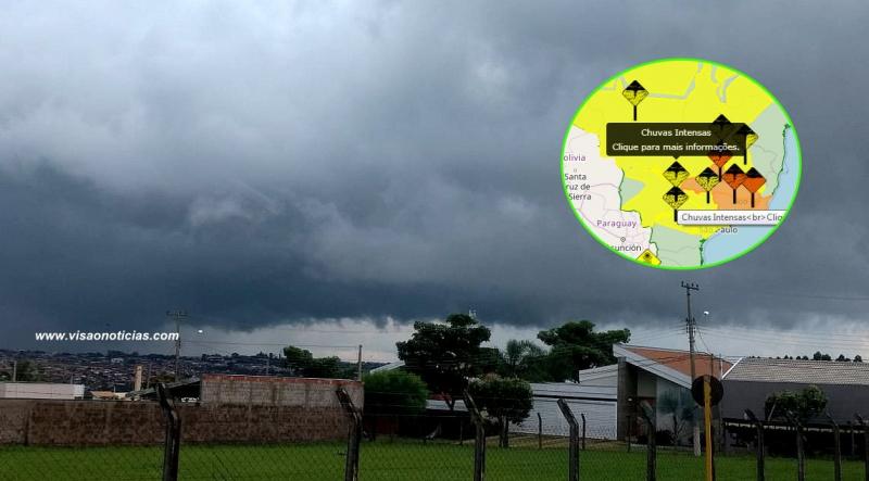 INMet alerta para risco de temporais em Marília e região até amanhã