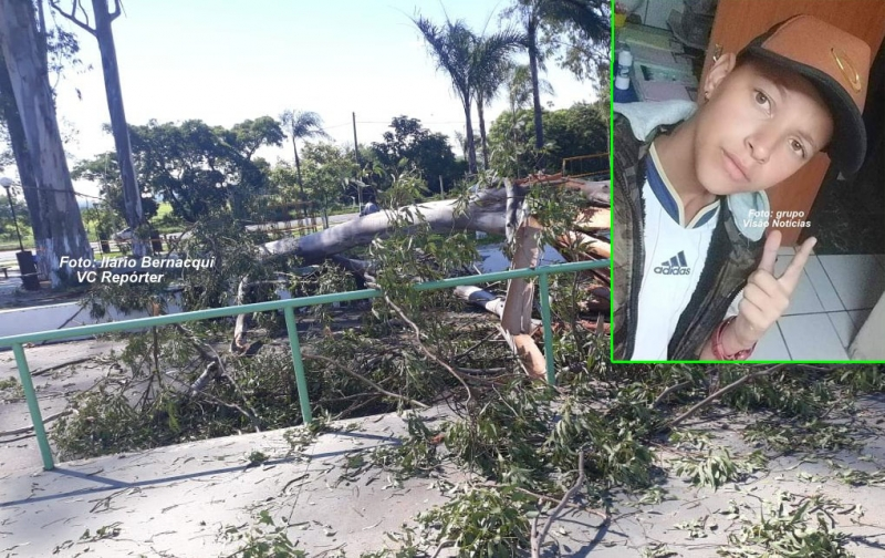 Galho de eucalipto cai em praça e mata garoto de 14 anos, na região