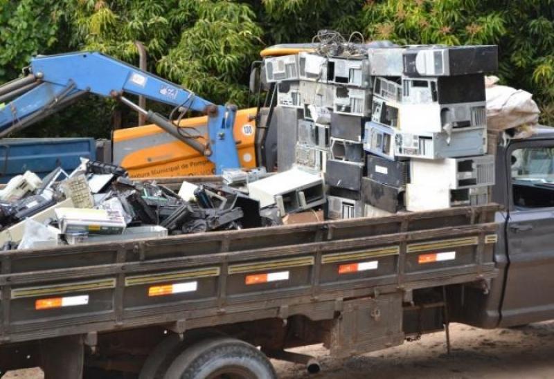 Cidade da região coleta 6 toneladas de lixo eletrônico
