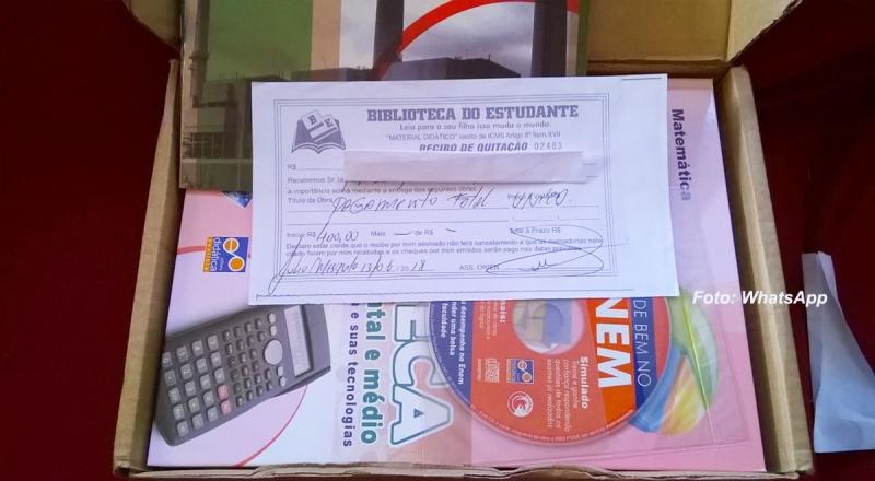 Mulher denuncia golpe do livro e tem prejuízo de R$ 400,00