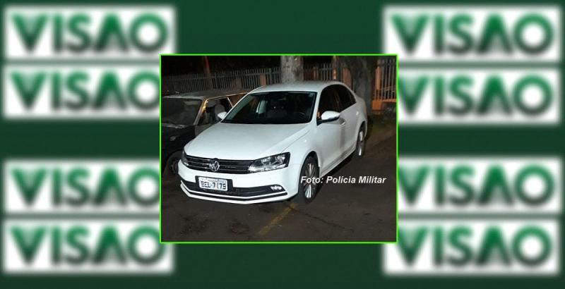 Carro com placas de Marília furtado no PR é recuperado pela PM