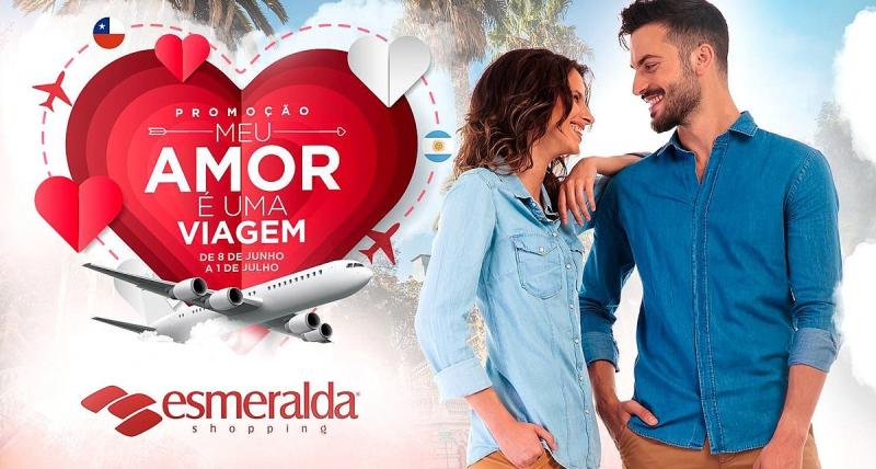 """Esmeralda Shopping realiza promoção """"Meu Amor É Uma Viagem"""""""