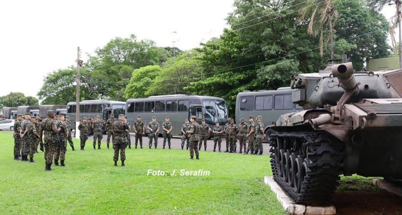 Soldados de Lins participam de mais uma missão na intervenção federal no RJ
