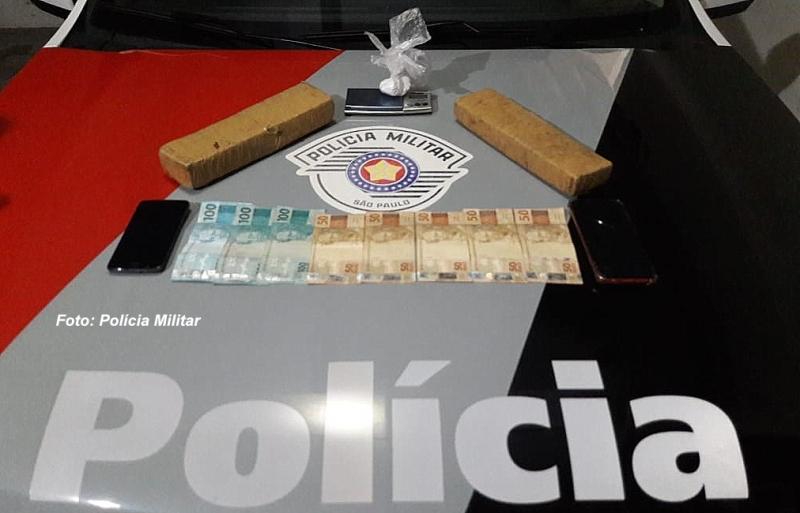 Atrás de assaltante, Polícia Militar prende acusado de tráfico